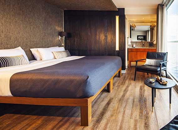 Bedroom on the MV Aria